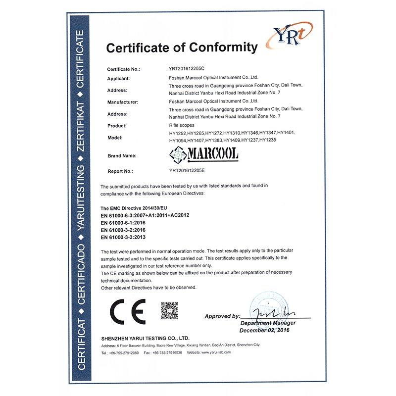 Sight CE certification