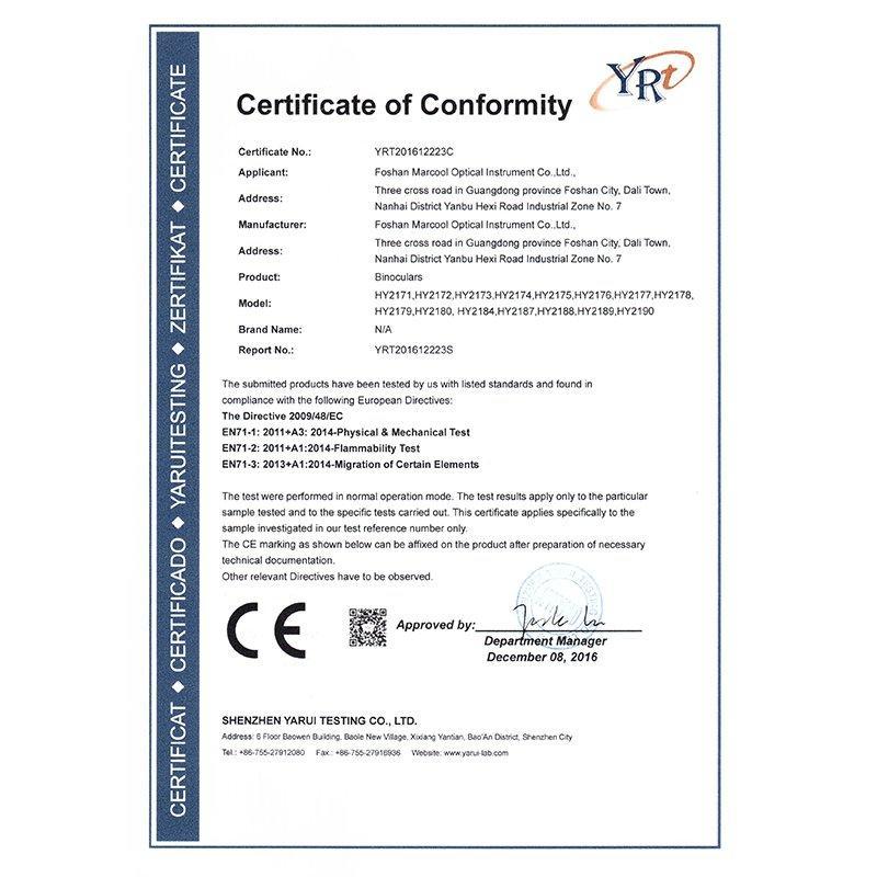 Telescope CE certification