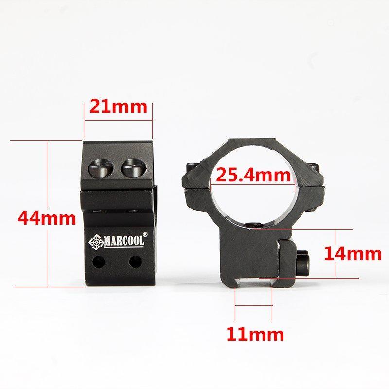 Riflescope Accessory Marcool 25.4mm 1'inch  3/8' Devotail Ring Mount