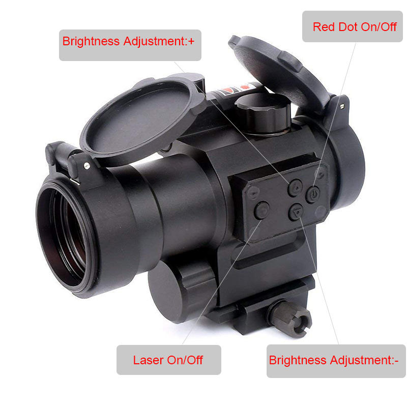 1x30 Red Dot Sight with Red Laser
